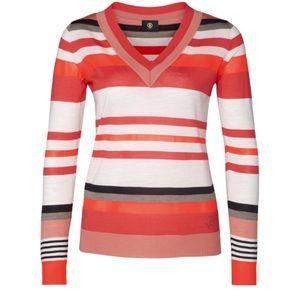 NEW Bogner Kerry Wool Pullover Sweater Stripe